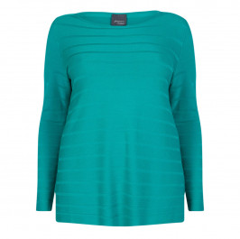 PERSONA BY MARINA RINALDI AQUA KNITTED SWEATER  - Plus Size Collection