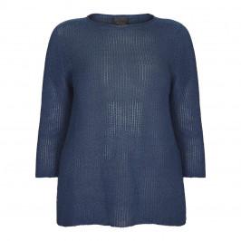 PERSONA BY MARINA RINALDI LUREX SWEATER BLUETTE - Plus Size Collection