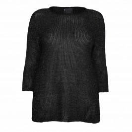PERSONA BY MARINA RINALDI LUREX SWEATER BLACK - Plus Size Collection