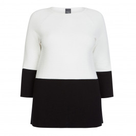PERSONA BY MARINA RINALDI BLACK AND WHITE SWEATER - Plus Size Collection