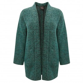 PERSONA JADE GREEN LONG CARDIGAN - Plus Size Collection