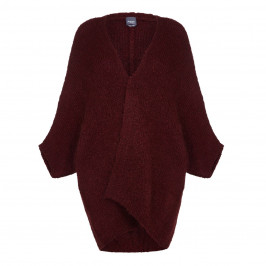 Persona Long Chunky Knit Cardigan  - Plus Size Collection