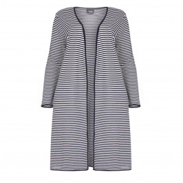 PERSONA BY MARINA RINALDI LONG narrow stripe CARDIGAN - Plus Size Collection
