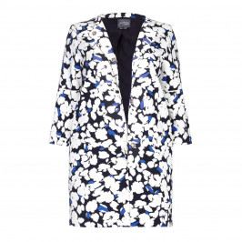 PERSONA BY MARINA RINALDI LONG printed JACKET with bell sleeves - Plus Size Collection