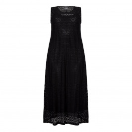 PERSONA black crochet MAXI DRESS - Plus Size Collection