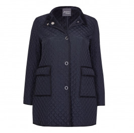 PERSONA BY MARINA RINALDI NAVY PADDED JACKET - Plus Size Collection