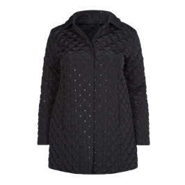 PERSONA BY MARINA RINALDI BLACK QUILTED JACKET - Plus Size Collection