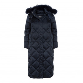 PERSONA BY MARINA RINALDI NAVY PUFFER COAT - Plus Size Collection