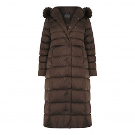 PERSONA BY MARINA RINALDI PUFFER COAT CHOCOLATE
