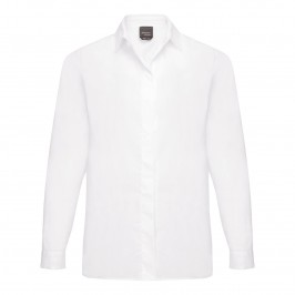 PERSONA cotton SHIRT with concealed fastenings - Plus Size Collection
