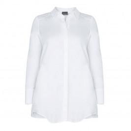 PERSONA BY MARINA RINALDI LONG WHITE COTTON SHIRT - Plus Size Collection