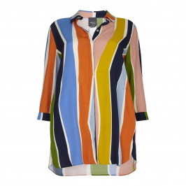 PERSONA multicolour abstract stripe print SHIRT - Plus Size Collection
