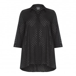 PERSONA black broderie anglaise SHIRT - Plus Size Collection