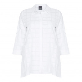PERSONA BY MARINA RINALDI WHITE JACQUARD SHIRT - Plus Size Collection