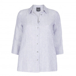 PERSONA BY MARINA RINALDI LINEN STRIPE SHIRT - Plus Size Collection