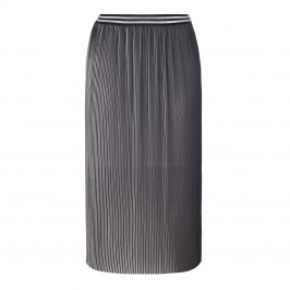 PERSONA by Marina Rinaldi pleated metallic SKIRT - Plus Size Collection