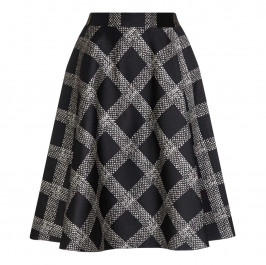 PERSONA black and white check taffeta SKIRT