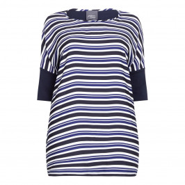 PERSONA navy stripe front Tunic - Plus Size Collection