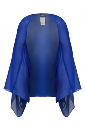PERSONA BY MARINA RINALDI blue chiffon STOLE - Plus Size Collection