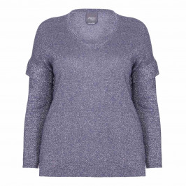 PERSONA BY MARINA RINALDI LUREX SWEATER - Plus Size Collection