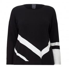 PERSONA BY MARINA RINALDI BLACK AND WHITE TUNIC - Plus Size Collection
