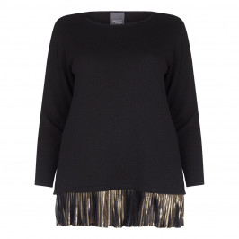 PERSONA BLACK Cashmere blend sweater with pleats - Plus Size Collection