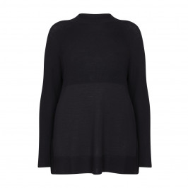 PERSONA BY MARINA RINALDI ROUND NECK BLACK SWEATER - Plus Size Collection