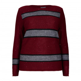 PERSONA BY MARINA RINALDI Bordeaux SWEATER, detachable collar - Plus Size Collection