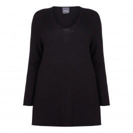 Persona Black Wool Sweater - Plus Size Collection