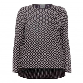PERSONA BY MARINA RINALDI JACQUARD SWEATER - Plus Size Collection