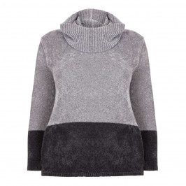 PERSONA BY MARINA RINALDI GREY CHENILLE SWEATER - Plus Size Collection