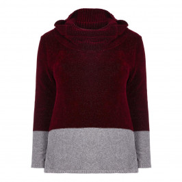 PERSONA BY MARINA RINALDI BORDEAUX CHENILLE SWEATER - Plus Size Collection