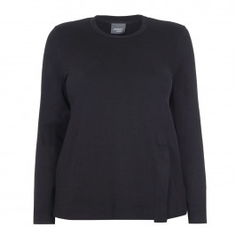 PERSONA BY MARINA RINALDI BLACK PURE COTTON SWEATER - Plus Size Collection