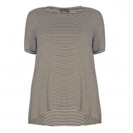 PERSONA khaki stripe T SHIRT - Plus Size Collection
