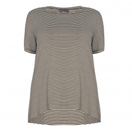 PERSONA khaki stripe T SHIRT - Plus Size Collection