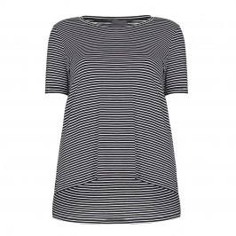 PERSONA navy stripe T SHIRT - Plus Size Collection