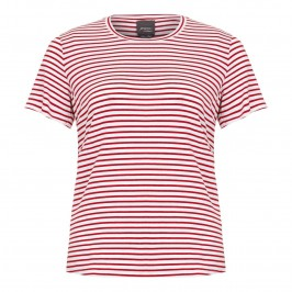 PERSONA red and white striped t-shirt - Plus Size Collection
