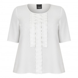 PERSONA BY MARINA RINALDI CREPE DE CHINE TOP CREAM - Plus Size Collection