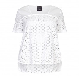 PERSONA BRODERIE ANGLAISE TOP - Plus Size Collection