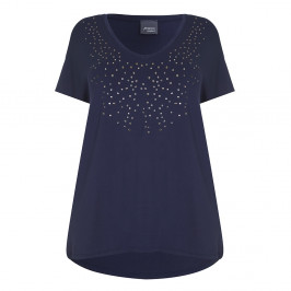 PERSONA navy embellished TOP - Plus Size Collection