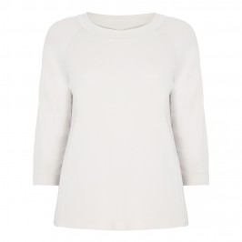 PERSONA LIGHT BEIGE JERSEY CREPE TOP - Plus Size Collection