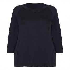 PERSONA BLACK FLUID CREPE JERSEY TOP - Plus Size Collection