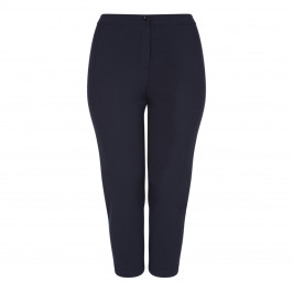 PERSONA BY MARINA RINALDI NAVY ANKLE GRAZER TROUSER - Plus Size Collection