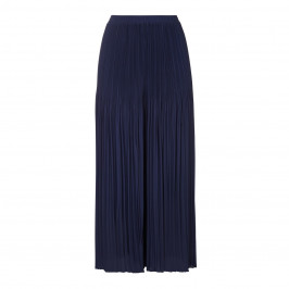 PERSONA BY MARINA RINALDI navy pleated wide leg TROUSERS - Plus Size Collection