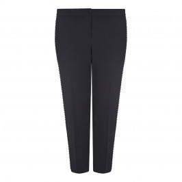 PERSONA BY MARINA RINALDI DIAMANTE TRIM TROUSER BLACK - Plus Size Collection