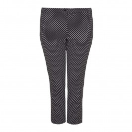 PERSONA geometric jacquard ankle grazer TROUSERS - Plus Size Collection