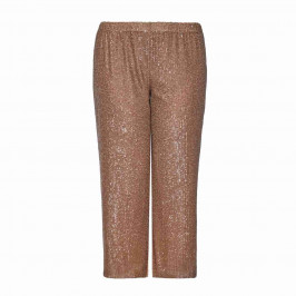PERSONA BY MARINA RINALDI GOLD SEQUIN PALAZZO TROUSER - Plus Size Collection