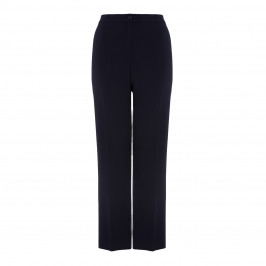 PERSONA BY MARINA RINALDI NAVY FRONT CREASE FRONT ZIP TROUSERS - Plus Size Collection