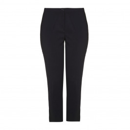 PERSONA navy slim-leg Cropped TROUSERS - Plus Size Collection