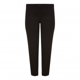 PERSONA black cotton ankle grazer TROUSERS - Plus Size Collection